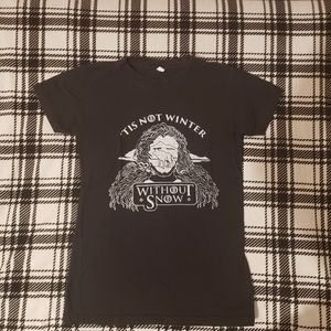 Black Game of Thrones Graphic Short Sleeve Tee
